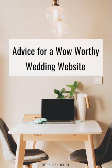 Advice for a Wow Worthy Wedding Website